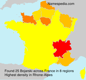 Surname Bojarski in France