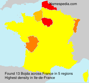 Surname Bojda in France