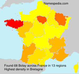 Surname Bolay in France