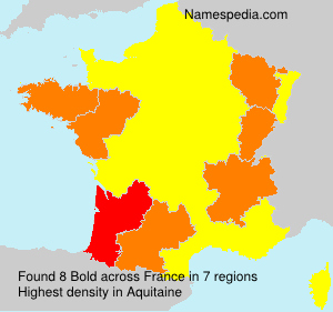 Surname Bold in France