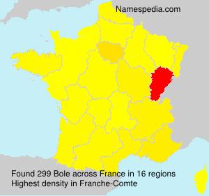 Familiennamen Bole - France
