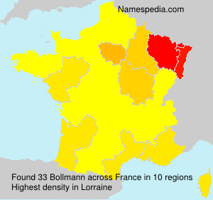 Surname Bollmann in France