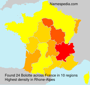 Surname Bolotte in France