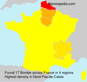 Familiennamen Bombe - France