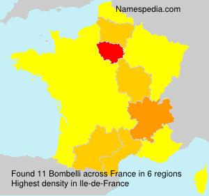 Surname Bombelli in France