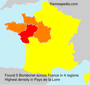 Surname Bombonel in France