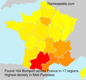 Surname Bompart in France