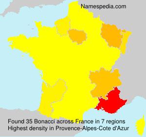 Surname Bonacci in France
