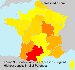 Surname Bonadei in France