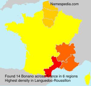 Surname Bonano in France