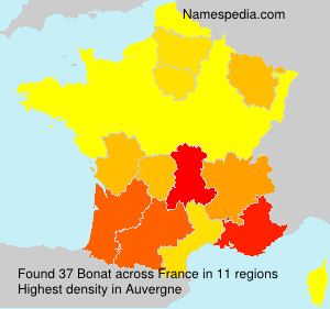 Surname Bonat in France