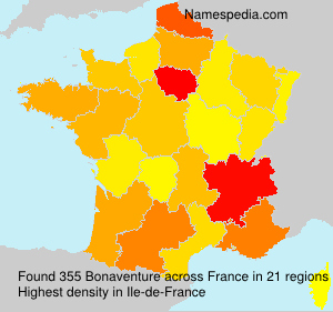 Familiennamen Bonaventure - France