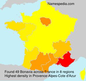 Surname Bonavia in France