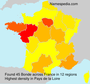 Surname Bonde in France