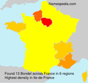 Surname Bondel in France