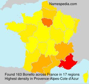 Surname Bonello in France
