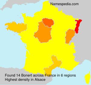 Familiennamen Bonert - France