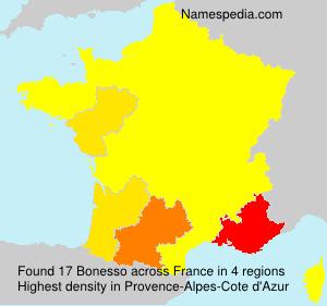 Surname Bonesso in France