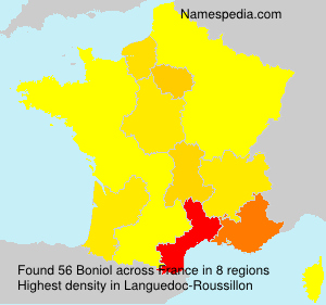 Surname Boniol in France