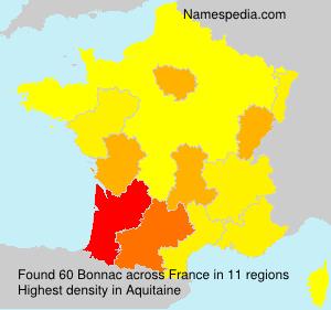 Surname Bonnac in France