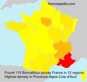 Surname Bonnaffoux in France