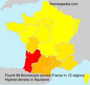 Surname Bonnecaze in France