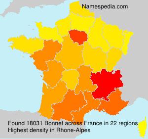 Familiennamen Bonnet - France