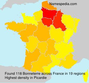 Surname Bonneterre in France