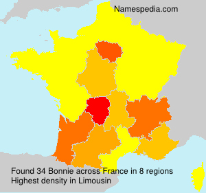 Surname Bonnie in France