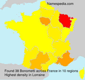 Surname Bonometti in France