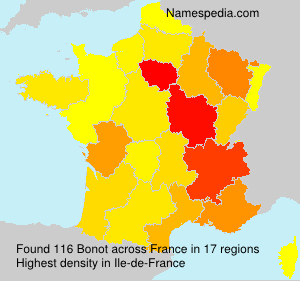 Surname Bonot in France