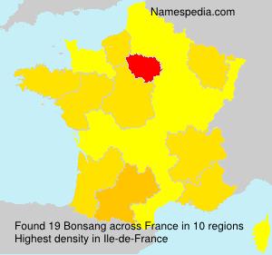 Familiennamen Bonsang - France