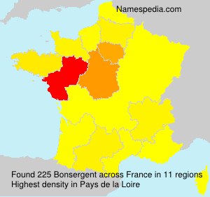 Surname Bonsergent in France