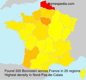 Surname Bonvoisin in France