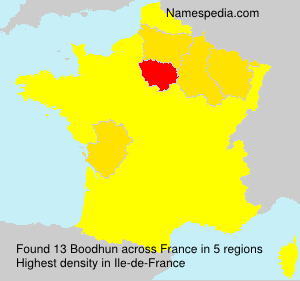 Surname Boodhun in France