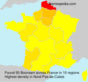 Surname Boonaert in France