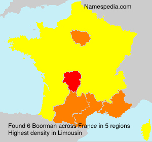 Surname Boorman in France