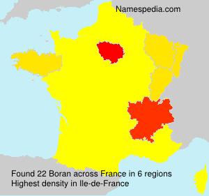 Surname Boran in France