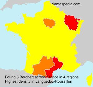 Familiennamen Borchert - France