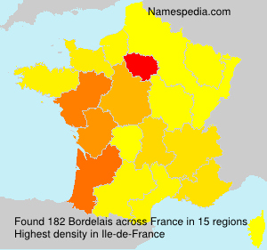 Surname Bordelais in France