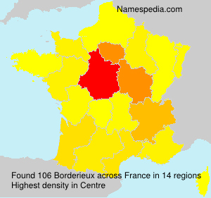 Surname Borderieux in France