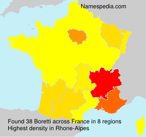 Surname Boretti in France