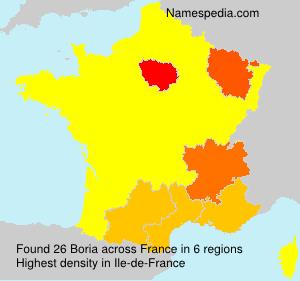 Surname Boria in France