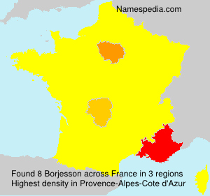 Surname Borjesson in France