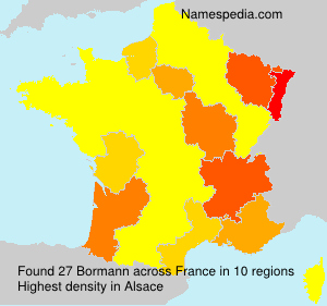 Surname Bormann in France