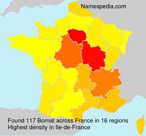 Surname Bornat in France