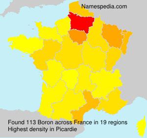 Familiennamen Boron - France