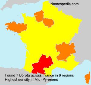 Familiennamen Borota - France