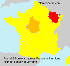 Surname Borowian in France
