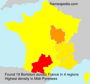 Surname Bortoloni in France